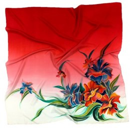 AM-002 Hand-painted silk scarf, 90x90cm