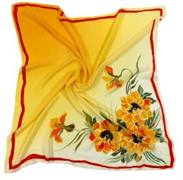AM-117 Hand-painted silk scarf, 90x90cm