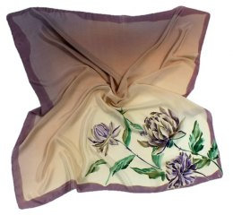 AM-006 Hand-painted silk scarf, 90x90cm