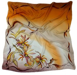 AM-102 Hand-painted Silk Scarf
