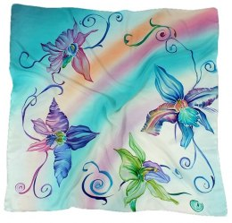 AM-151 Hand-painted silk scarf, 90x90cm