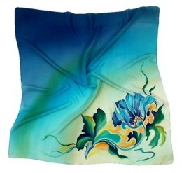 AM-149 Hand-painted silk scarf, 90x90cm