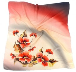 AM-152 Hand-painted Silk Scarf