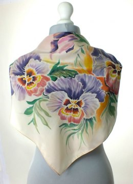AM-159 Hand-painted Silk Scarf