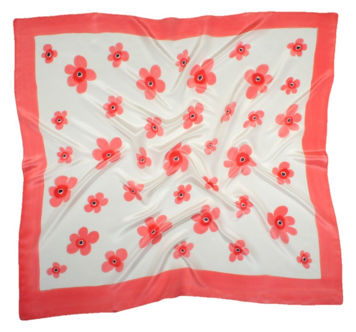 AM-430 Hand-painted silk scarf, 90x90cm