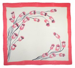 AM-304 Hand-painted silk scarf, 90x90cm