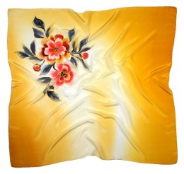 AM-431 Hand-painted silk scarf, 90x90cm