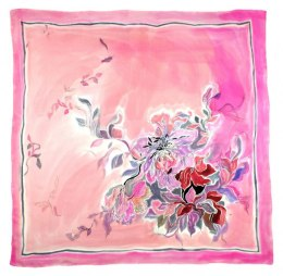 AM-401 Hand-painted Silk Scarf