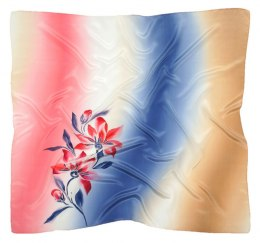 AM-434 Hand-painted silk scarf, 90x90cm