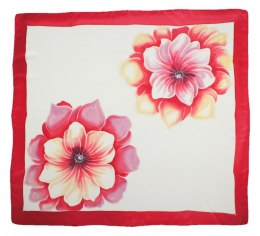 AM-435 Hand-painted silk scarf, 90x90cm
