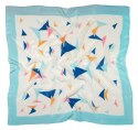 AM-443 Hand-painted silk scarf, 90x90cm