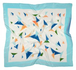 AM-445 Hand-painted silk scarf, 90x90cm