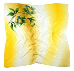 AM-451 Hand-painted silk scarf, 90x90cm