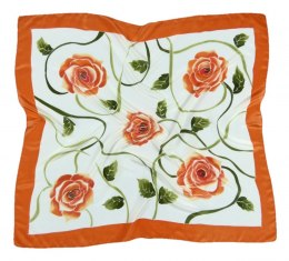 AM-328 Hand-painted silk scarf, 90x90cm