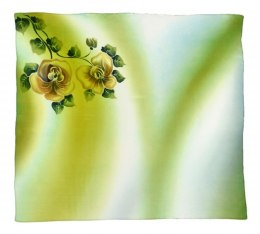 AM-330 Hand-painted silk scarf, 90x90cm