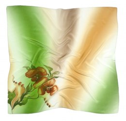 AM-331 Hand-painted silk scarf, 90x90cm