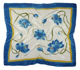 AM-337 Hand-painted silk scarf, 90x90cm