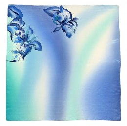 AM-342 Hand-painted silk scarf, 90x90cm