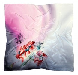 AM-346 Hand-painted silk scarf, 90x90 cm