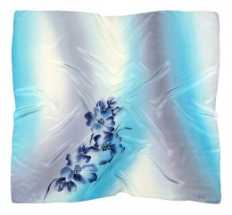 AM-351 Hand-painted silk scarf, 90x90cm