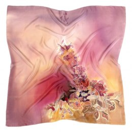 AM-359 Hand-painted silk scarf, 90x90 cm