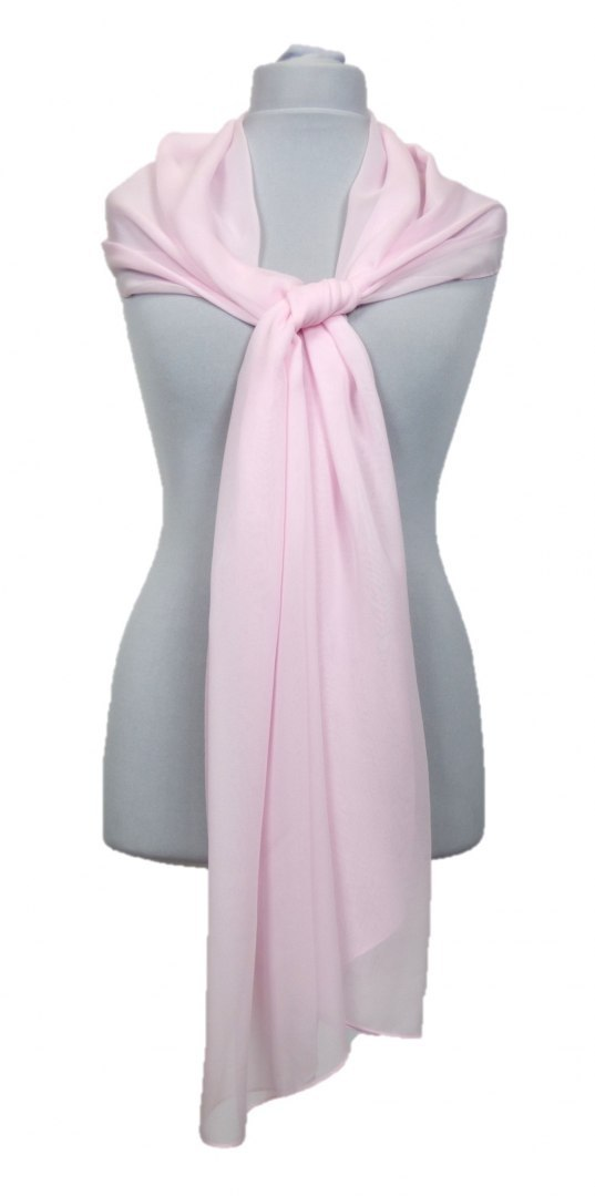 SZZ-336 One-color silk scarf - Georgette, 200x65cm