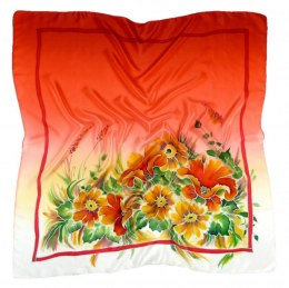 AM-123 Hand-painted silk scarf, 90x90cm
