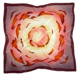 AM-372 Hand-painted silk scarf, 90x90cm