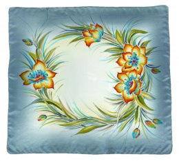 AM-373 Hand-painted silk scarf, 90x90cm