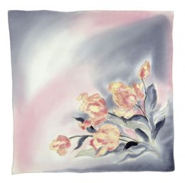 AM-533 Hand-painted silk scarf, 55x55 cm