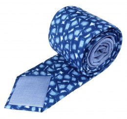 IT-015 Blue Ice Cubes Silk Tie - MILANO