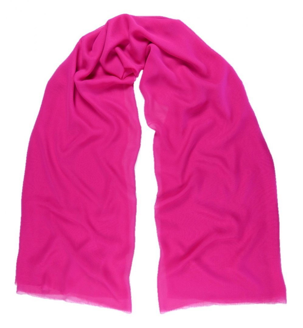 SZZ-306 One-color silk scarf - Georgette, 200x65cm (9)