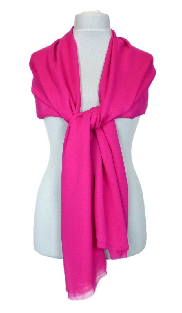 SZZ-306 One-color silk scarf - Georgette, 200x65cm (8)