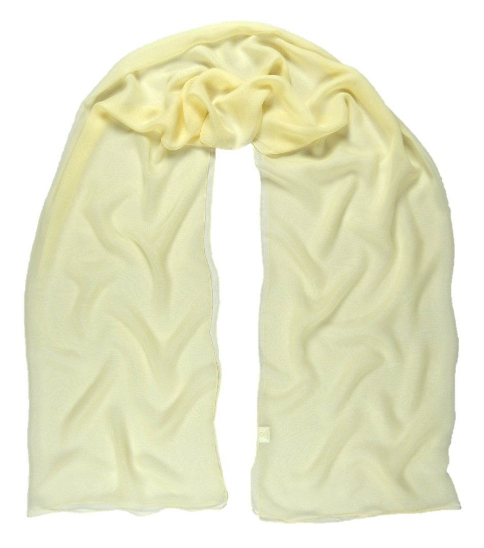 SZZ-318 One-color silk scarf - Georgette, 200x65cm (2)