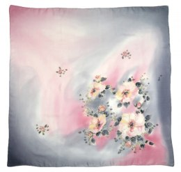 AM-410 Hand-painted Silk Scarf