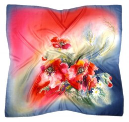 AM-415 Hand-painted Silk Scarf