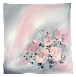 AM-535 Hand-painted silk scarf, 55x55 cm