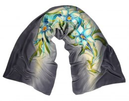 SZ-100 Hand-painted Silk Shawl