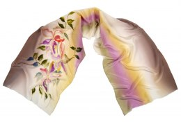 SZ-232 Hand-painted Silk Shawl