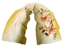 SZ-238 Hand-painted Silk Shawl