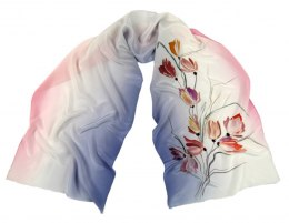 SZ-246 Hand-painted Silk Shawl