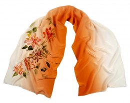 SZ-255 Hand-painted Silk Shawl