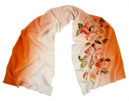 SZ-259 Hand-painted Silk Shawl