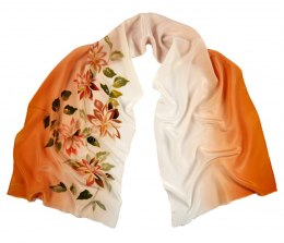 SZ-261 Hand-painted Silk Shawl
