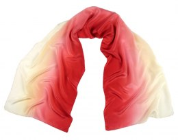 SZC-001 Silk scarf, hand shaded, 170x45 cm
