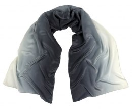 SZC-002 Silk scarf, hand shaded, 170x45 cm