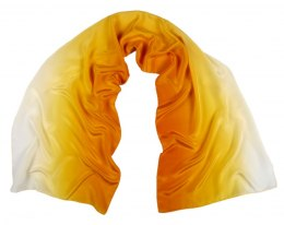 SZC-005 Silk scarf, hand shaded, 170x45 cm