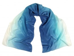 SZC-007 Silk scarf, hand shaded, 170x45 cm