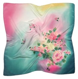 AM-536 Hand-painted silk scarf, 55x55 cm