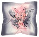 AM7-216 Hand-painted silk scarf, 70x70 cm
